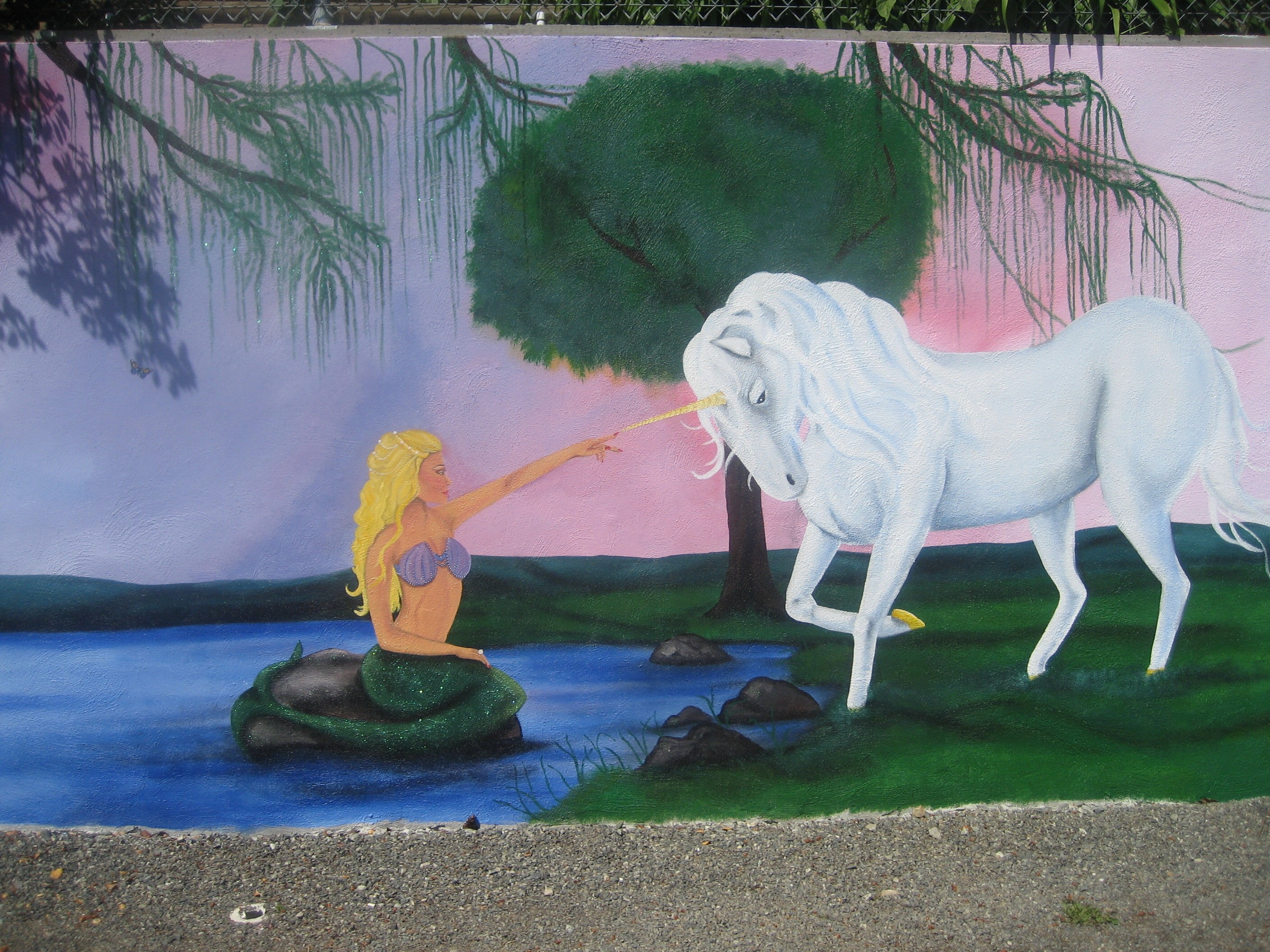 Dr spencer rose pedeatric office victoria bc fairy forest for Fairy forest mural